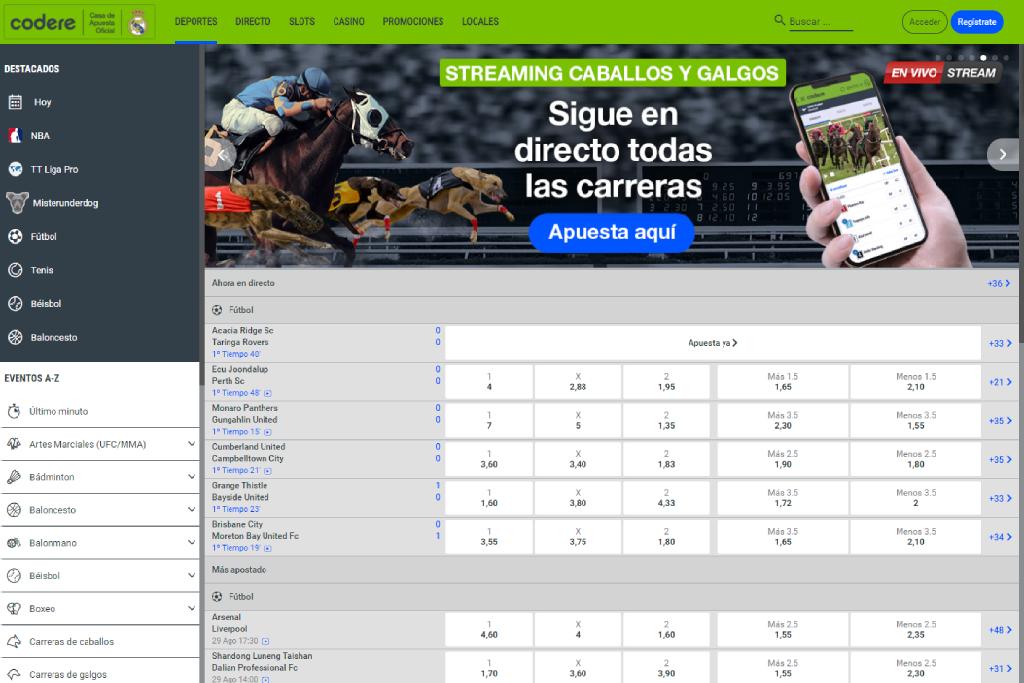 Casa de apuestas deportivas Codere en España